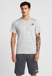 adidas Performance - T-Shirt print - medium grey - 0