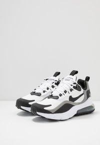 Nike Sportswear - AIR MAX 270 REACT - Trainers - white/black/metallic pewter - 2