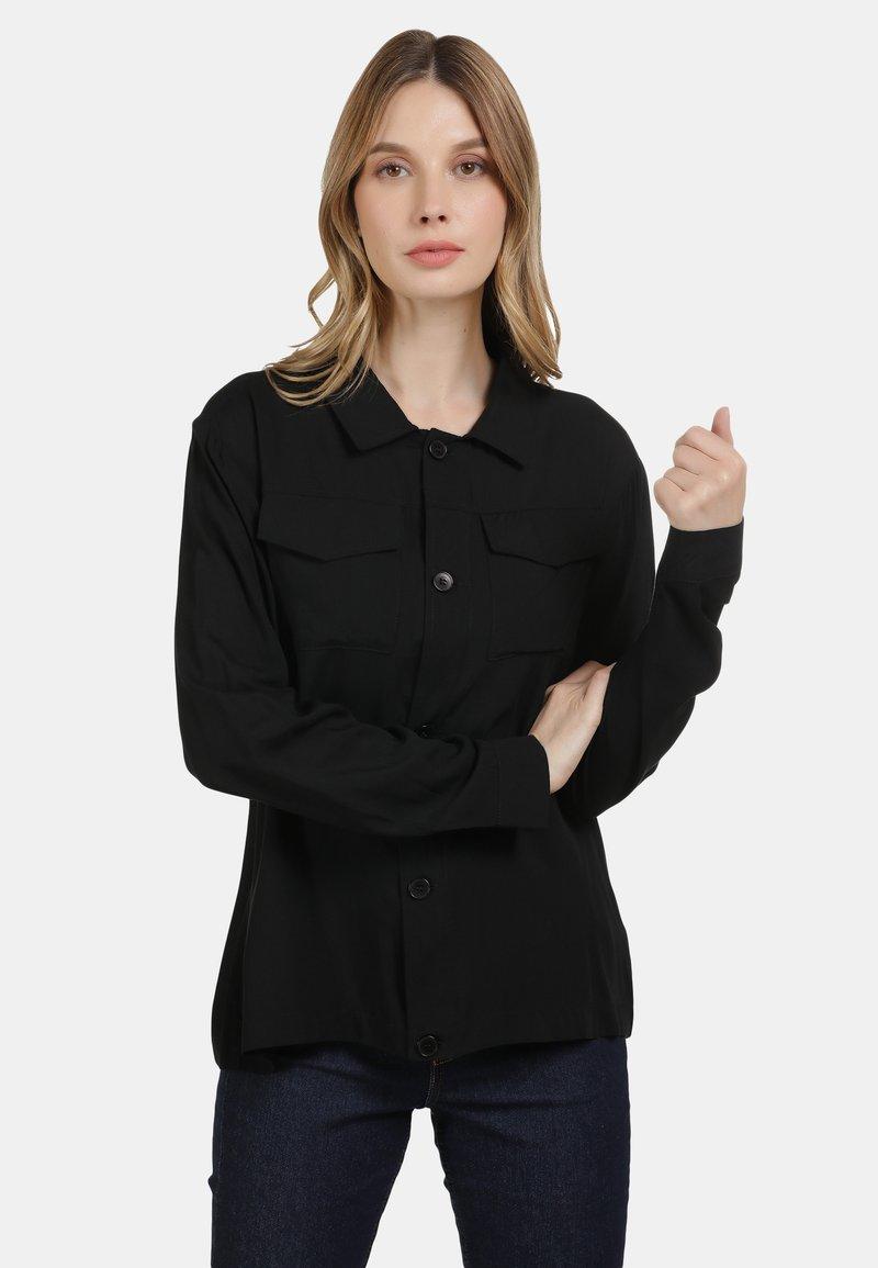 DreiMaster - Button-down blouse - black