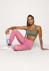 Nike Performance - ONE LUXE - Tights - desert berry/clear - 1