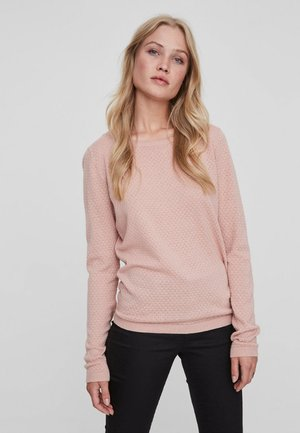 VMCARE STRUCTURE O NECK - Strikkegenser - misty rose