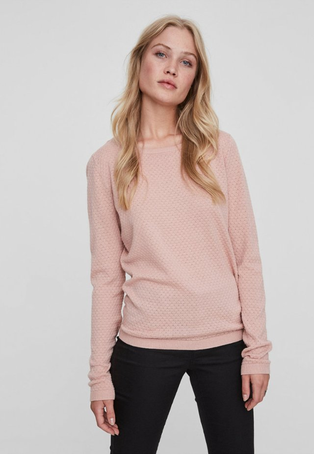 Strickpullover - misty rose