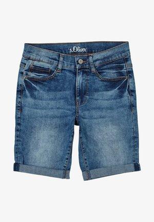 PANTALON - Denim shorts - blue