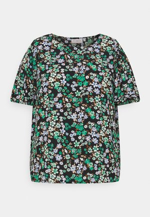 CARANEMONY TOP - Print T-shirt - black