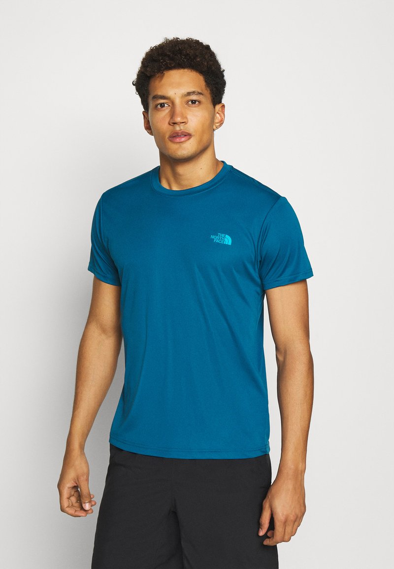 The North Face - MEN'S REAXION AMP CREW - Basic T-shirt - moroccan blue