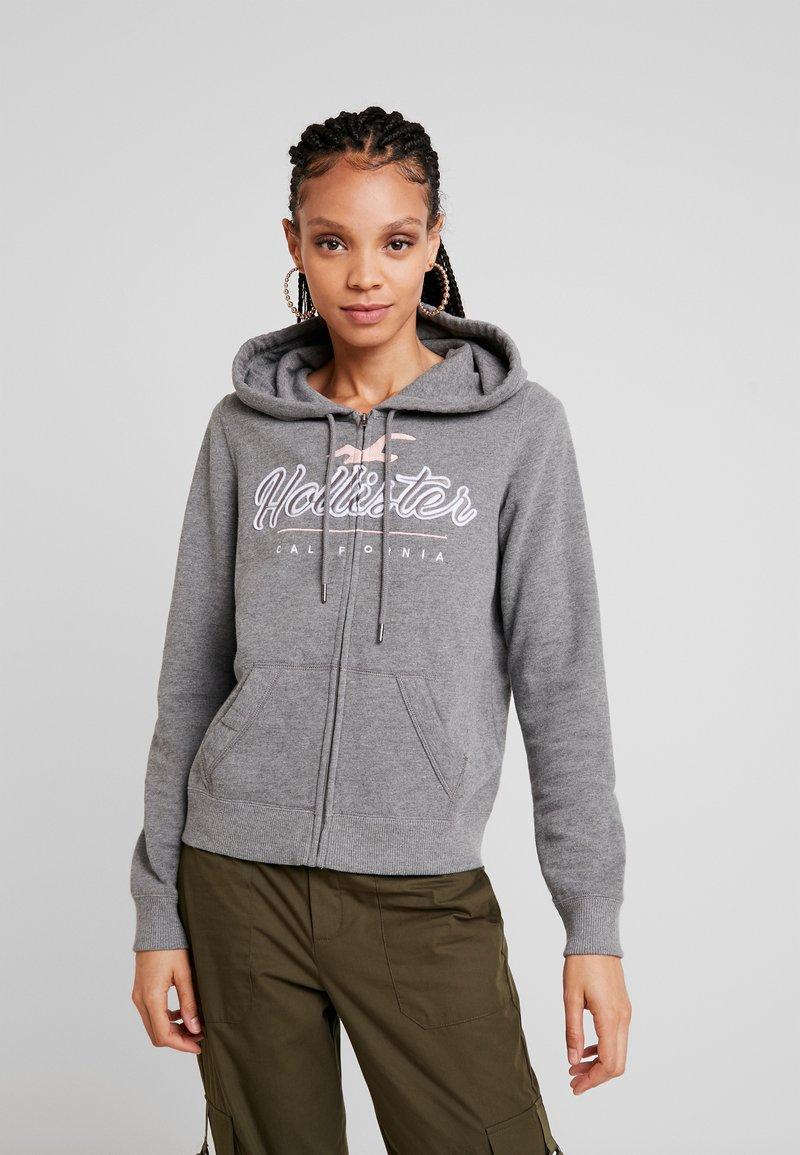 Hollister Co. - CORE FULL ZIP - Mikina na zip - grey