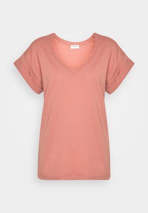ALVA V NECK TEE - Basic T-shirt - brick dust