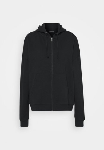Oversized Zip Through Sweat Jacket