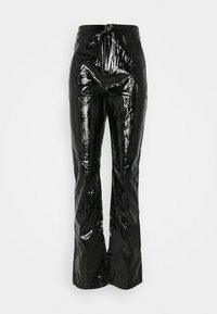 Missguided Tall - SHINY TROUSER - Kalhoty - black - 0