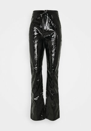 SHINY TROUSER - Stoffhose - black