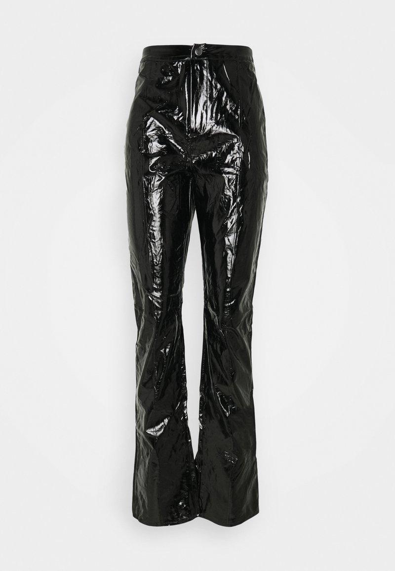 Missguided Tall - SHINY TROUSER - Kalhoty - black