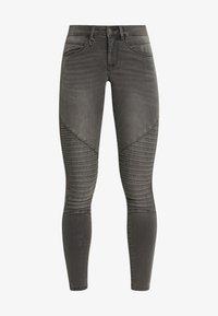 ONLY - ONLROYAL BIKER - Jeans Skinny Fit - dark grey denim - 4
