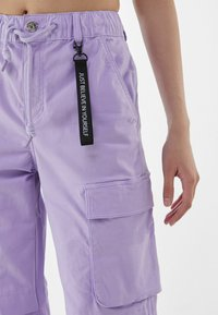 Bershka - Cargo trousers - mauve - 3