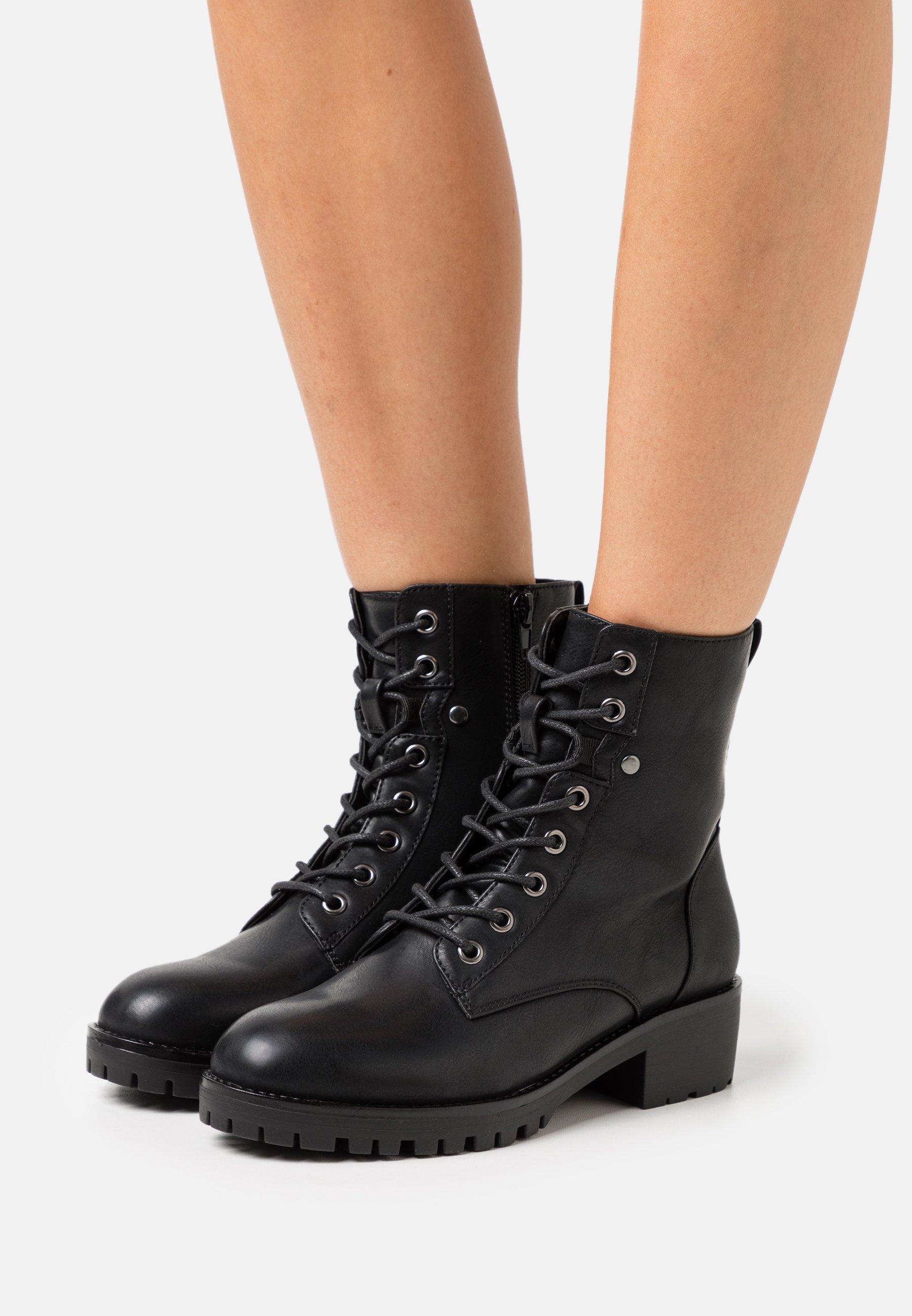 Damen Schnürstiefelette - black