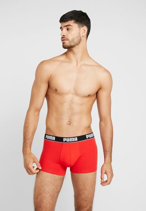 BASIC TRUNK 2 Pack - Shorty - red/black