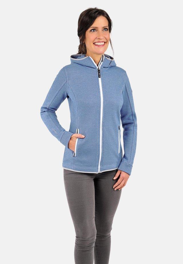 veste en sweat zippée - himmelblau