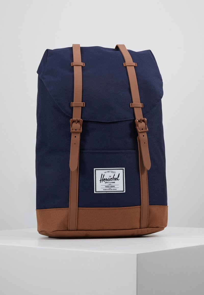 Herschel - RETREAT - Rucksack - peacoat/saddle brown