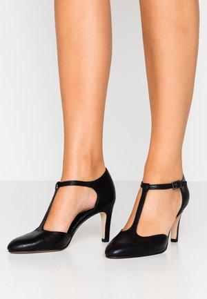 Classic heels - black metallic