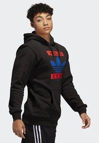 adidas Originals - RUN DMC HOODY - Hoodie - black/white/scarle - 2