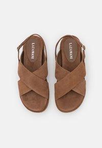 Lazamani - Platform sandals - taupe - 5
