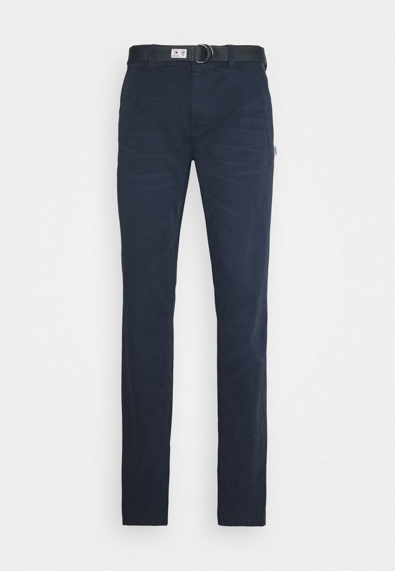 Tommy Jeans - TAPERED BELTED PANT - Chinos - dark blue