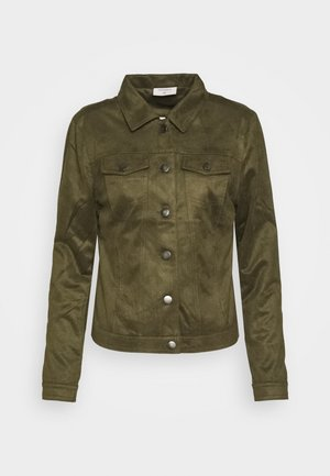 FQBIRDA - Faux leather jacket - olive night
