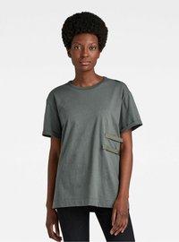 G-Star - TAPE TEE - T-shirt basic - graphite - 0