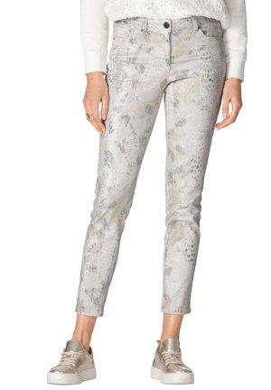 Slim fit jeans - ecru,silberfarben,goldfarben