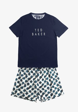 Pyjama set - dark blue/mottled blue/dark-blue denim