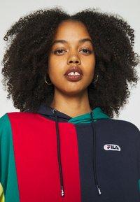 Fila - BAYOU - Sweatshirt - black iris/true red/teal green/aurora - 5