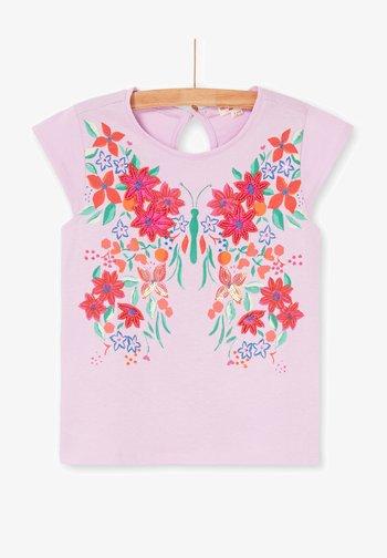 Print T-shirt - parma violet