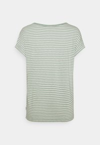 Marc O'Polo DENIM - SHORT SLEEVE WIDE BODYSHAPE VNECK - Print T-shirt - mint - 1
