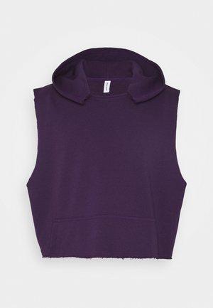 UNISEX SLEEVELESS HOODIE - Bluza z kapturem - purple
