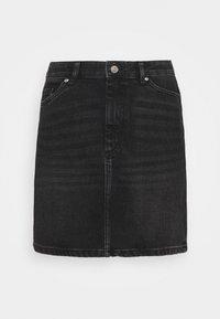 ONLY - ONLROSE LIFE ASHAPE SKIRT - Mini skirt - black denim - 4