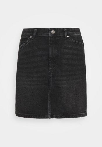 ONLROSE LIFE ASHAPE SKIRT - Mini skirt - black denim