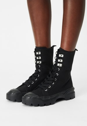Lace-up ankle boots - black dark