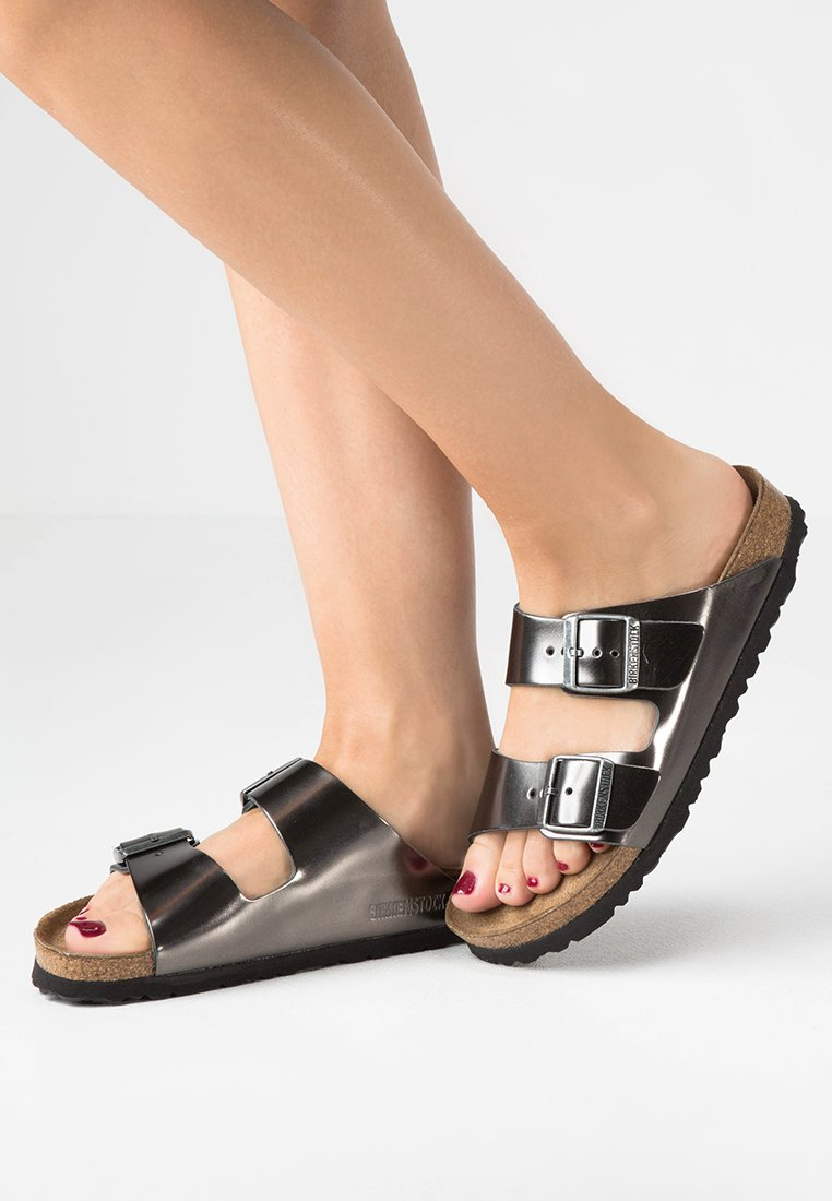 Birkenstock - ARIZONA - Slippers - metallic anthracite