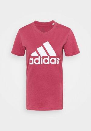 T-shirts med print - wild pink/white