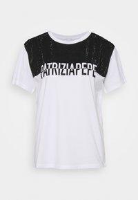 Patrizia Pepe - STUD TEE - T-shirt imprimé - bianco ottico - 0