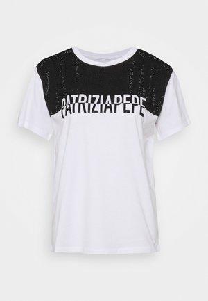 STUD TEE - Print T-shirt - bianco ottico