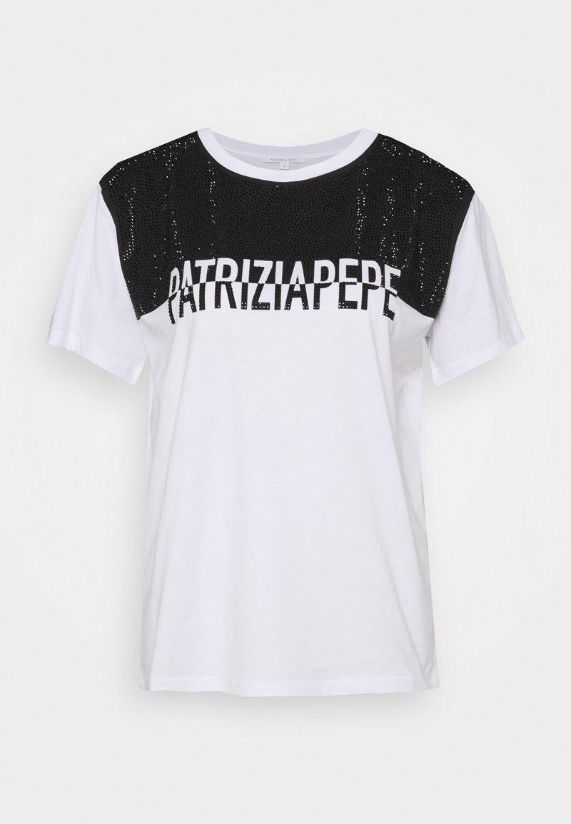 Patrizia Pepe - STUD TEE - T-shirt imprimé - bianco ottico