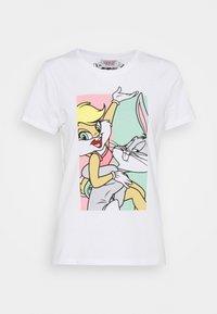 ONLBUNNY LOVE LIFE BOX - Print T-shirt - bright white