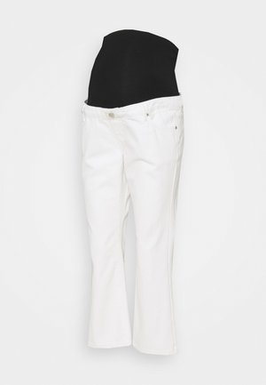 CROPPED - Relaxed fit jeans - white