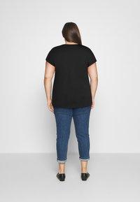 Even&Odd Curvy - Print T-shirt - black - 2