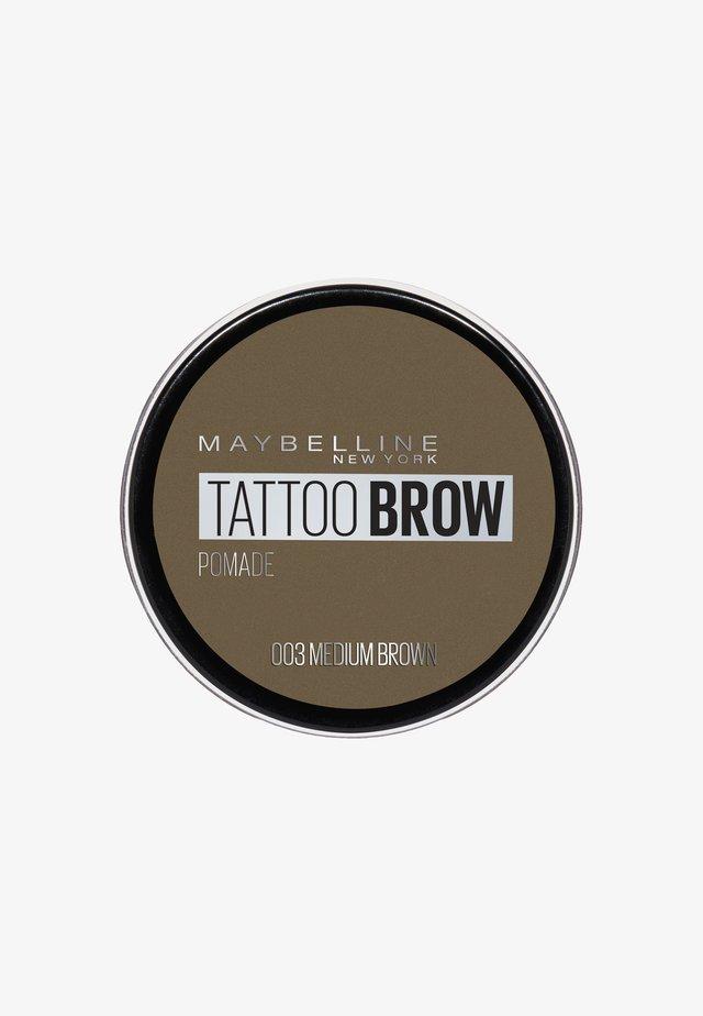TATTOO BROW POMADE - Poudre sourcils - 003 medium brown