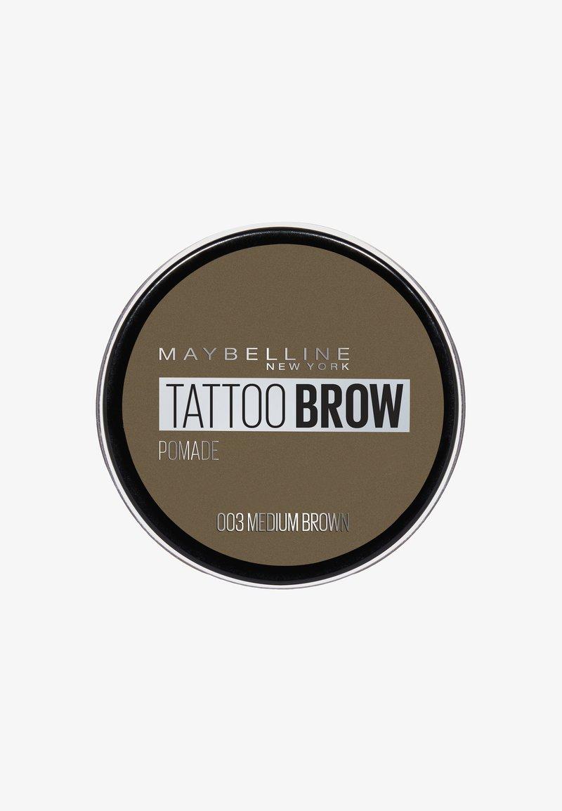 Maybelline New York - TATTOO BROW POMADE - Eyebrow powder - 003 medium brown