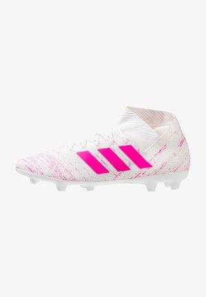 NEMEZIZ 18.3 FG - Moulded stud football boots - footwear white/shock pink