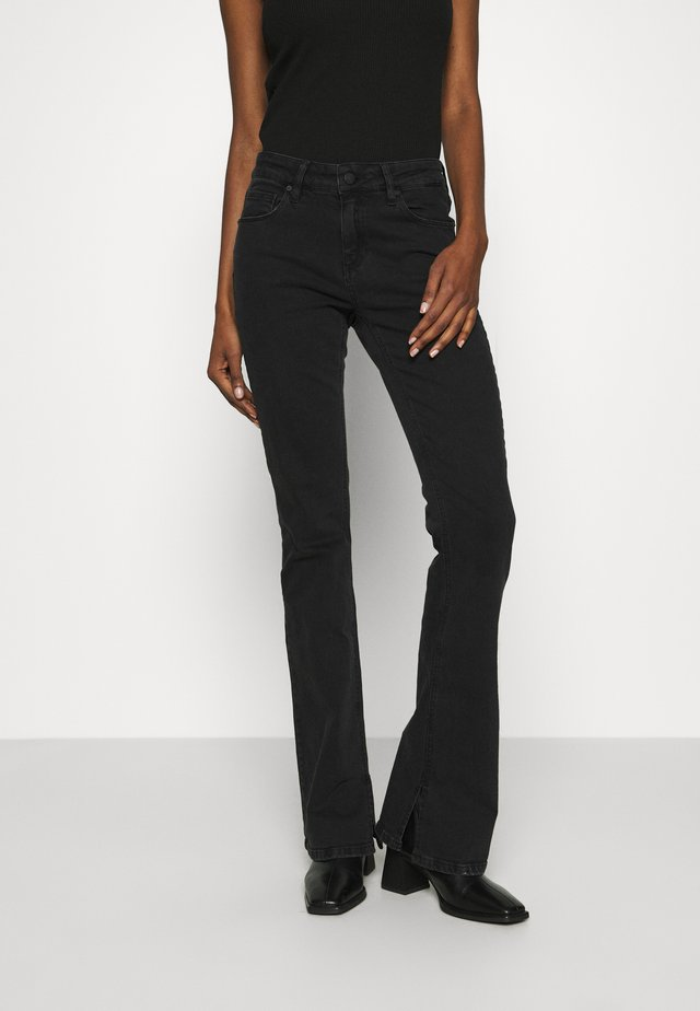 MARIJA FLARE - Flared Jeans - black denim