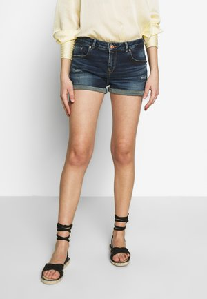 JUDIE - Denim shorts - dark blue denim