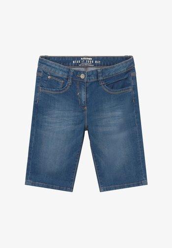 BERMUDA - Denim shorts - blue stone